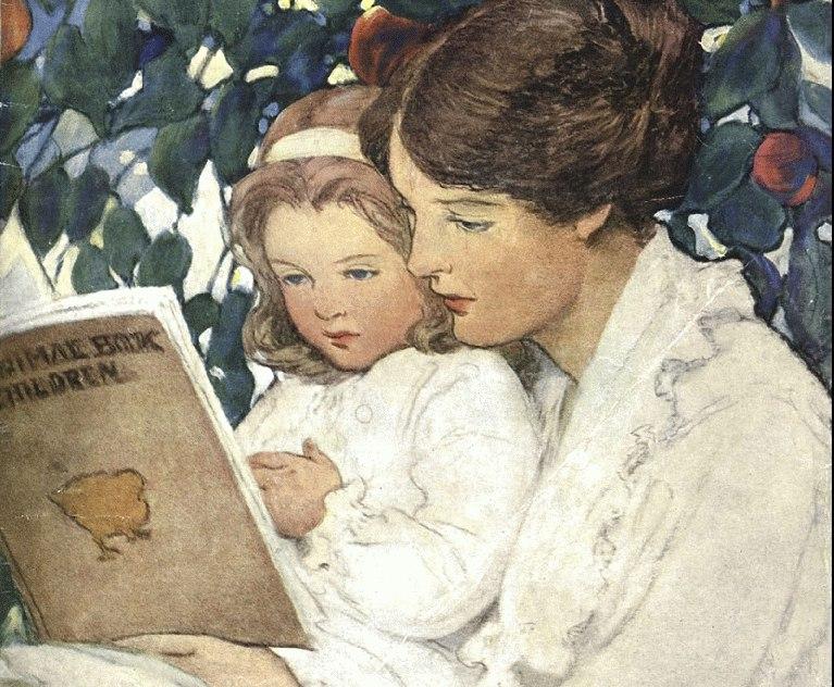 Без надписи, серия открыток с детьми